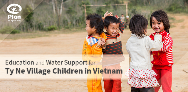 education and water support for the kids of ty ne village in Vietnam