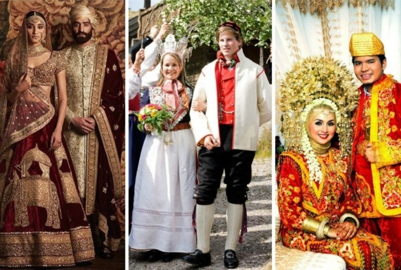 Take A Look At Traditional Wedding Outfits From Around The: Colorful Wedding Outfits From Different